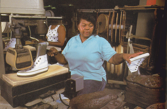 Pics From American Converse All Star Factory in the 90s