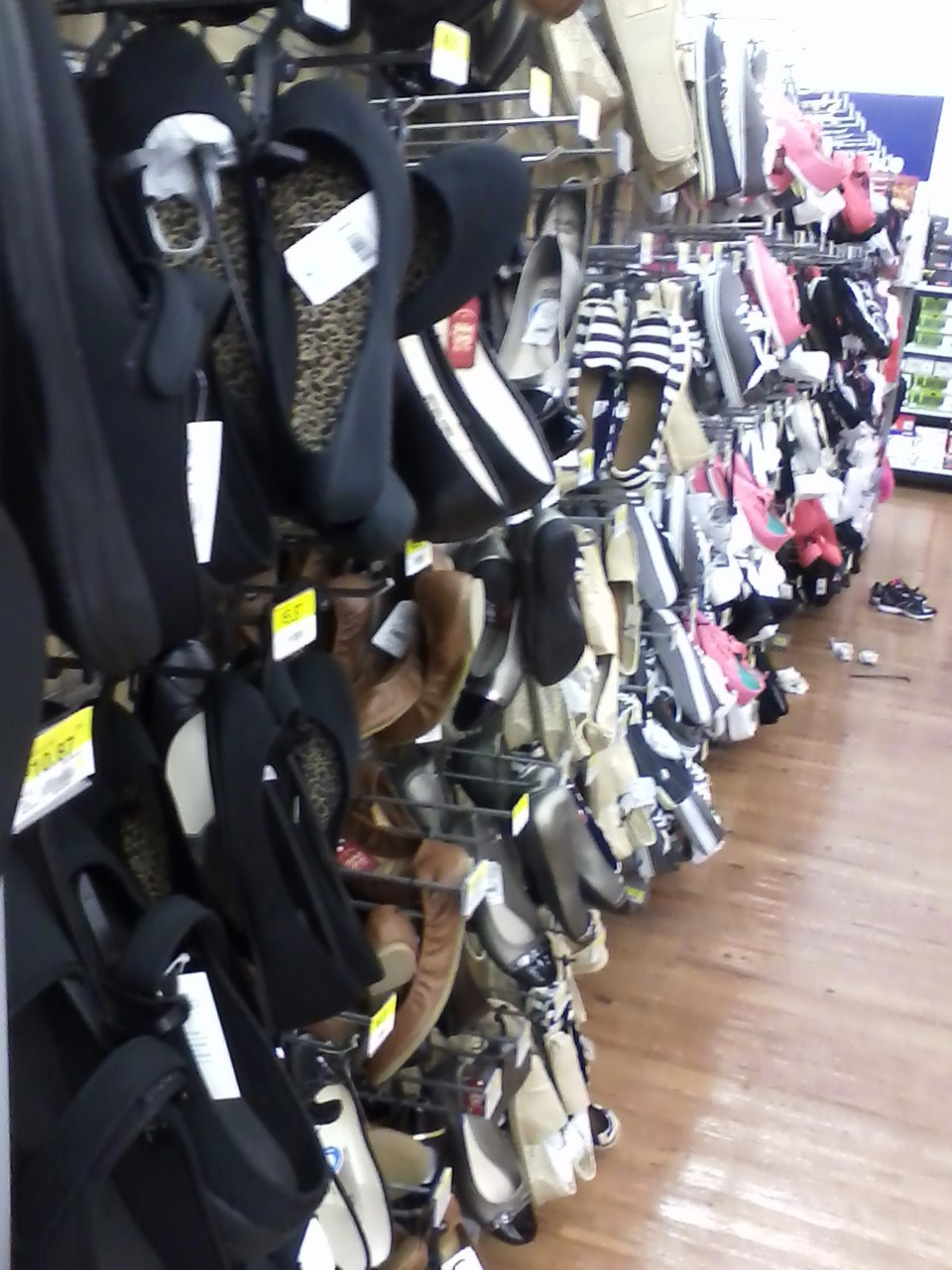 83c84500578c Shoes hanging out at Walmart